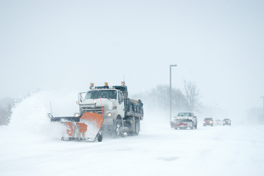 County snow plow